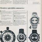 Breitling Watch Company Vintage 1973 Swiss Ad Suisse Advert SuperOcean AutoTime