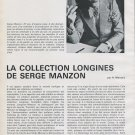 Longines Watch Company Serge Manzon Vintage 1973 Swiss Magazine Article Horology Horlogerie