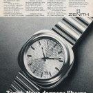 1973 Zenith Watch Company XL-Tronic Quartz Advert Vintage 1973 Swiss Ad Suisse Advert Horlogerie