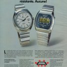 Certina Watch Company Vintage 1977 Swiss Ad Suisse Advert DS-Quartz Chronolympic
