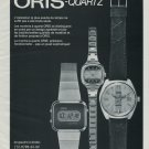 Oris Watch Company Vintage 1977 Swiss Ad Suisse Advert Horology Switzerland