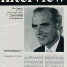 1977 Eterna Watch Company Interview Peter P Morf 1977 Swiss Magazine Article Horology Switzerland