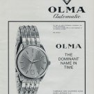 1968 Olma Watch Company Switzerland Vintage 1968 Swiss Ad Suisse Advert Horology