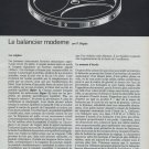 Le Balancier Moderne Vintage 1968 Swiss Magazine Article Horlogerie Horology
