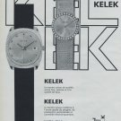 1968 Kelek Watch Company Switzerland Vintage 1968 Swiss Ad Suisse Advert Horology