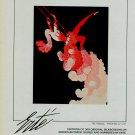 Erte Vintage 1983 Art Ad The Trapeze Advert Advertisement