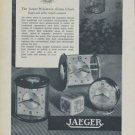 1954 Jaeger Clock Company Switzerland Vintage 1954 Swiss Ad Suisse Advert Horology Horlogerie