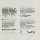 1968 Omega Watch Company Omega Constellation Advert Vintage 1968 Swiss Ad Suisse Advert Horology