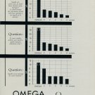 1955 Omega Watch Company Switzerland Vintage 1955 Swiss Ad Suisse Advert Horlogerie