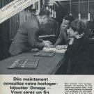 Omega Watch Company Switzerland Vintage 1965 Swiss Ad Suisse Advert Horlogerie Horology
