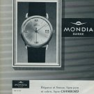1963 Mondia Watch Company Switzerland Vintage 1963 Swiss Ad Suisse Advert Horlogerie Horology