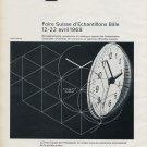 Vintage 1969 Swiss Watch Fair Basle Switzerland Advertisement Foire de Bale