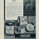 1955 Jaeger Clock Company Switzerland Vintage 1955 Swiss Ad Suisse Advert Horology