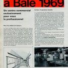 1969 Swiss Watch Fair Foire de Bale Vintage Swiss Magazine Clipping Horlogerie
