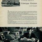 1956 Greiner Nouveaux Locaux Fabrique Greiner 1956 Swiss Magazine Article Horology