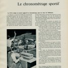 1956 FINA Omega Swim-Eight-O-Matic Timer Omega Watch Co. 1956 Swiss Magazine Article