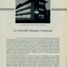 1956 La Nouvelle Fabrique Universal Watch Company Vintage 1956 Swiss Magazine Article