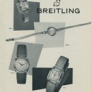 Breitling Watch Company Breitling S.A. Vintage 1954 Swiss Ad Suisse Advert
