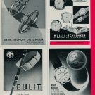 1961 German Industries Fair Vintage 1960 Swiss Magazine Clipping Advertisements Horology