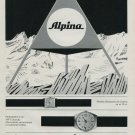 Alpina Watch Company Vintage 1968 Swiss Ad Suisse Advert Horlogerie Horology