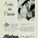 Alpina Watch Company Switzerland 1951 Swiss Ad Bienne Suisse Advert