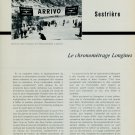 1956 Le Chronometrage Longines Vintage 1956 Swiss Magazine Article Longines Watch Co.