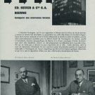Ed. Heuer Watch Company Vintage 1954 Swiss Magazine Article  Suisse Horlogerie