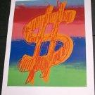 Andy Warhol Dollar Sign Art Ad (1981) (version 3)