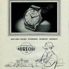 Aureole Watch Company 1951 Swiss Ad La Chaux-de-Fonds Switzerland Suisse Advert