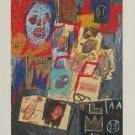 Jean-Michel Basquiat (1981) Art Ad Advertisement + 2 Details
