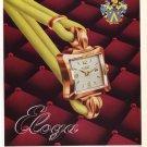 Eloga Watch Company Switzerland 1951 Swiss Ad Suisse Advert Horlogerie Horology