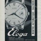 Eloga Watch Company Switzerland Vintage 1964 Swiss Ad Suisse Advert Horlogerie