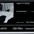 1968 Tom Wesselmann Vintage 1968 Art Exhibition Ad Advert Galerie Bischofberger, Zurich