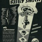 1954 Seitz Ruby Shock Watch Parts Company Switzerland Vintage 1954 Swiss Ad Suisse Advert