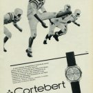 Cortebert Watch Company Vintage 1965 Swiss Ad Switzerland Suisse Advert Horology