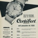 Cortebert Watch Company Switzerland Vintage 1954 Swiss Ad Suisse Advert Spirofix