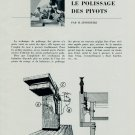 1956 Polissage des Pivots by H. Jendritzki 1956 Swiss Magazine Article Suisse Horlogerie Horology