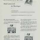 1956 Outil Universel de l'Horloger Info + Instruction 1956 Swiss Magazine Article