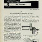 H. Jendritzki 1956 Swiss Magazine Article Measuring Instruments for Use with the Lathe (Horology)