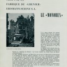 1956 Swiss Magazine Article Le Monorex Grenier Erismann-Schinz S.A. Horology