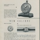 1957 Mido Watch Co. Tourist Everlight New Models Calibres 1957 Swiss Magazine Article