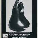 Sculptor Allan Houser Vintage 1984 Art Exhibition Ad New Gossip Advert