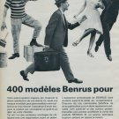 Benrus Watch Company Vintage 1964 Swiss Ad Suisse Advert Switzerland Horology