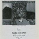 1984 Lucas Samaras Art Exhibition Ad Advert Wildenstein Gallery NY Advert