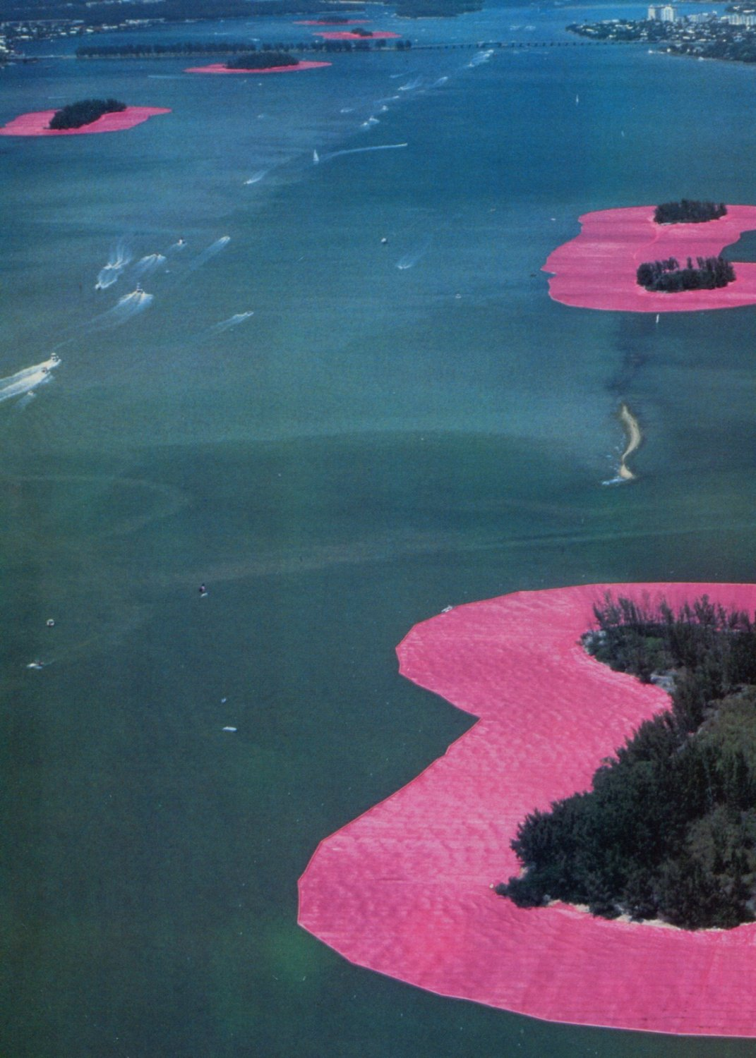 Christo's Blossoms in the Bay Christo Vintage 1984 Art Magazine Article