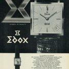 Edox Watch Company Vintage 1965 Swiss Ad Bienne Switzerland Suisse Advert  Horology