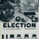 1964 Election Watch Company Vintage 1964 Swiss Ad Suisse Advert Horlogerie Horology