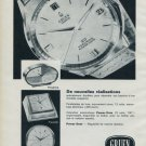 1964 Gruen Watch Company Switzerland Vintage 1964 Swiss Ad Suisse Advert Horology Horlogerie