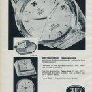 1964 Gruen Watch Company Switzerland Vintage 1964 Swiss Ad Suisse Advert Horology Horlogerie