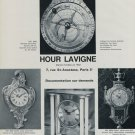 1968 Hour Lavigne Clock Company Paris France Vintage 1968 Swiss Ad Suisse Advert